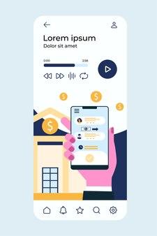 Handhaltetelefon mit bank-app