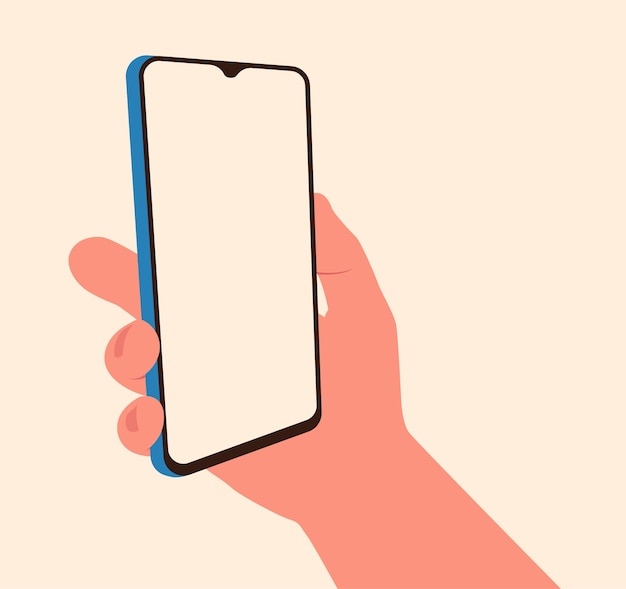 Handheld smartphone illustration