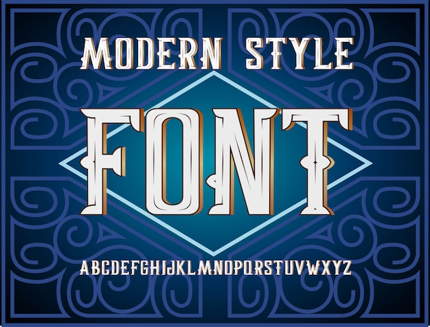 Handlich gestaltete moderne label-schriftart