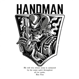 Handman schwarzweiss
