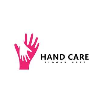 Handpflege-logo-symbol business-vektor-symbol-vorlage