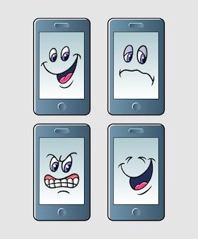 Handphone emoticon symbol zeichentrickfigur