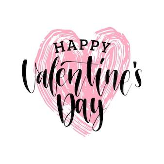 Handschrift phrase happy valentines day