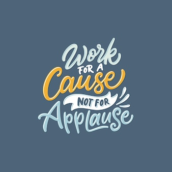 Handschrift- / typografie-zitate für motivierende arbeit