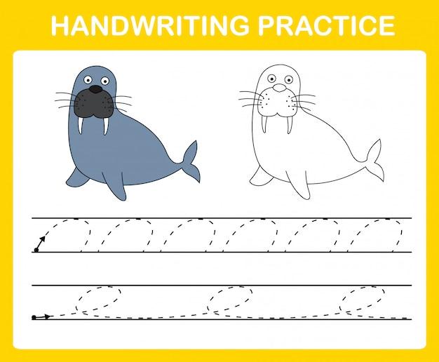 Handschrift-übungsblattillustration