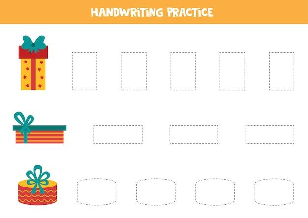 Handschrift-übungsset