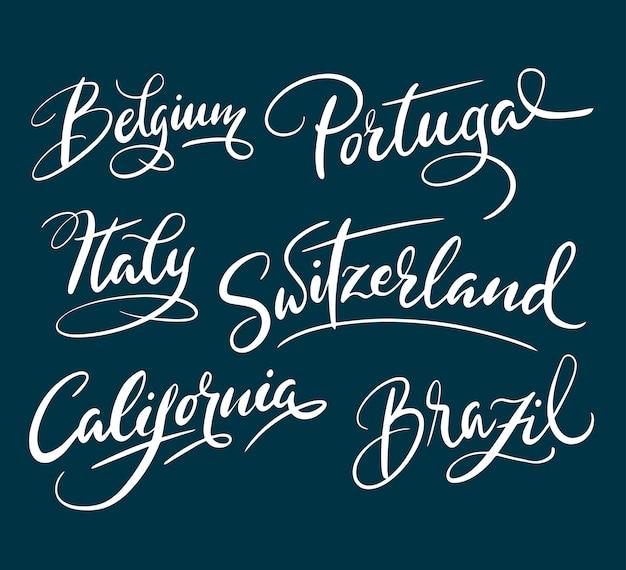 Handschriftkalligraphie portugals und italiens