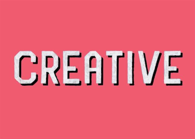 Handschriftliche art der kreativen typografie