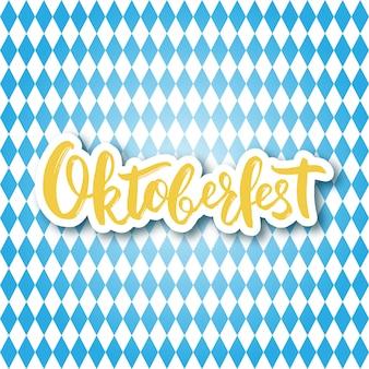 Handschriftliche beschriftung oktoberfest.