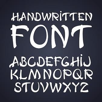 Handschriftliche pinselschrift.