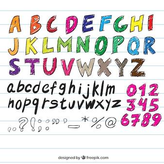 Handschriftliche typografie
