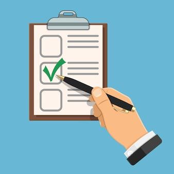 Handschriftprüfung auf ordner