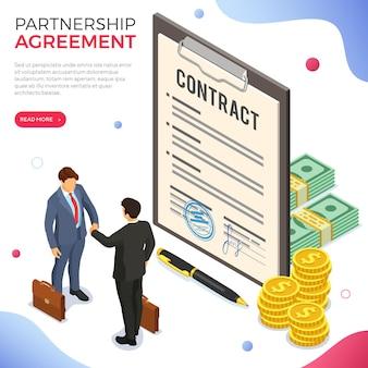 Handshake business mans nach verhandlung erfolgreicher deal