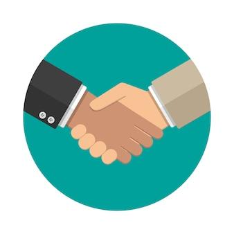 Handshake-symbol im flachen stil