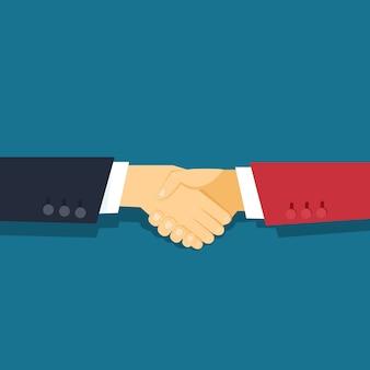 Handshake-vektorillustration für berichte und präsentationen