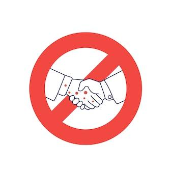 Handshake-verbot. kein händedruck.
