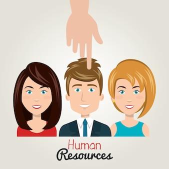 Handsymbol menschliche ressourcen wählen person