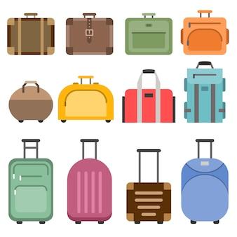 Handtaschen und koffer.