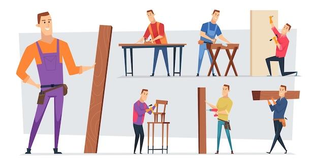 Handwerker charaktere arbeiten