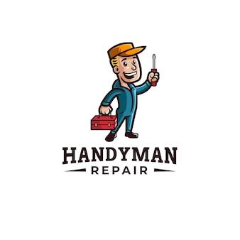Handwerker vintage maskottchen logo