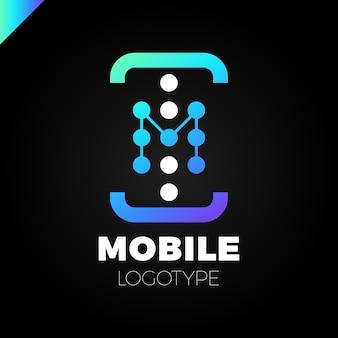 Handy-app-brief m-logo-symbol design-vorlage-elemente