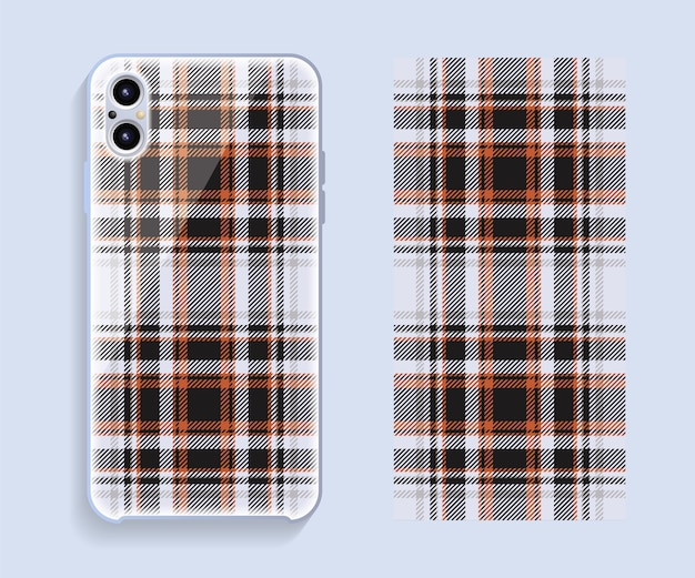 Handy-cover-design. vorlage smartphone fall muster.