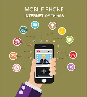 Handy, internet der dinge cyber-technologie