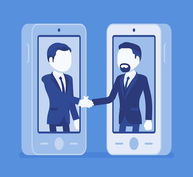 Handy-männervertrag, kommerzieller geschäftsvertrag