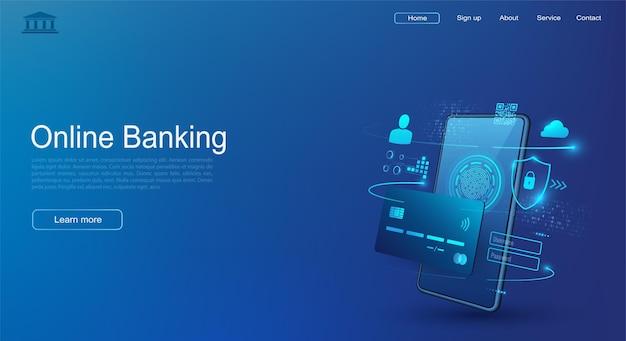 Handy- und internetbanking. sichere online-zahlungen per kreditkarte. drahtlose geldtransaktionen per smartphone.