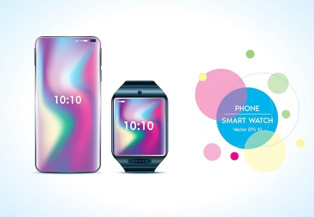 Handy und smartwatch