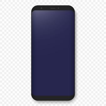Handy-vorlage. realistisches telefonkonzept der hohen qualität mit kamera.