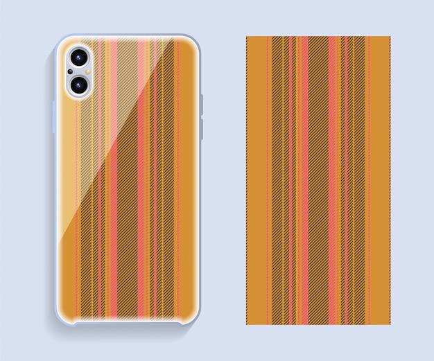 Handyhülle design. vorlage smartphone fall muster.
