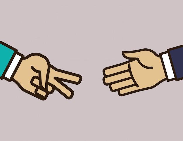 Handzeichen design