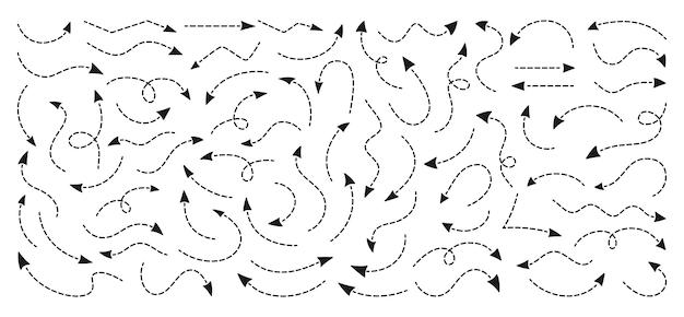 Handzeichnung der schwarzen pfeile