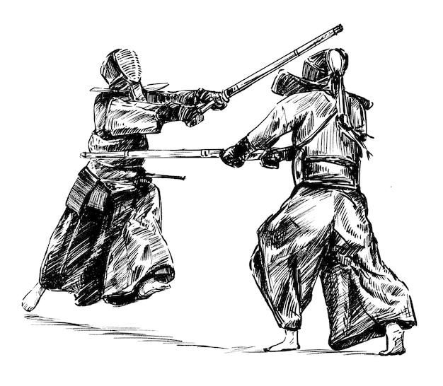 Handzeichnung des kendo