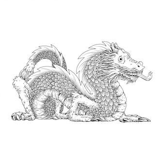 Handzeichnung drache