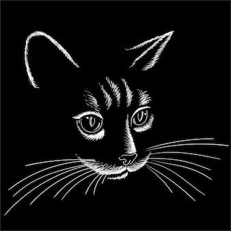 Handzeichnung katzenkopf