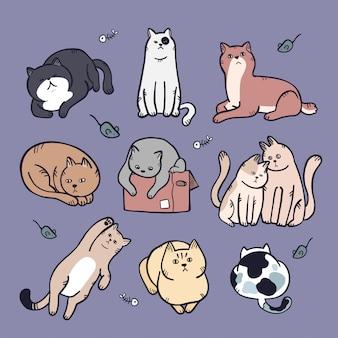 Handzeichnung katzensammlung