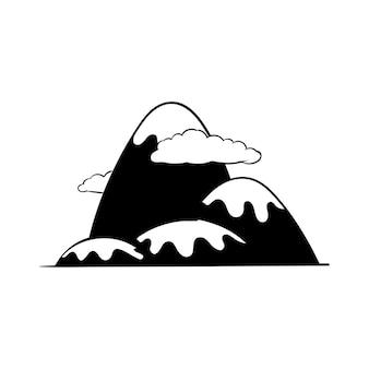 Handzeichnungs-illustrationssatz fernweh-ikonen