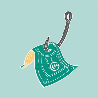 Handzeichnungsillustration des finanzierung conct