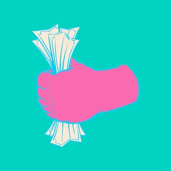 Handzeichnungsillustration des finanzkonzeptes