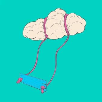 Handzeichnungsillustration des kreativen ideenkonzeptes