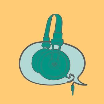 Handzeichnungsillustration des musikunterhaltungskonzeptes