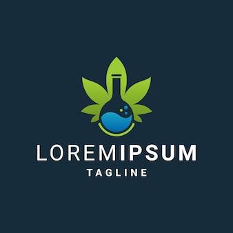 Hanf oder cannabis labs logo vorlage