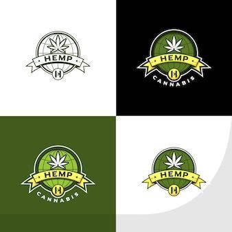 Hanf- und cannabis-logo