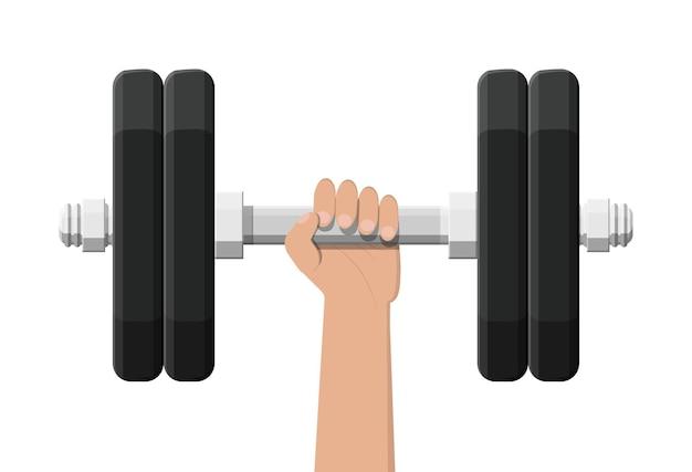Hantel mit metallgewichten abbildung
