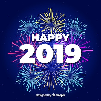 Happy 2019 hintergrund