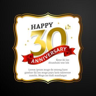 Happy 30th anniversary kartenvorlage
