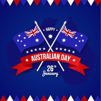 Happy australia day mit flagge