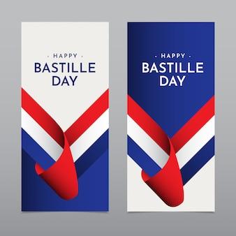 Happy bastille day feier vorlage design illustration